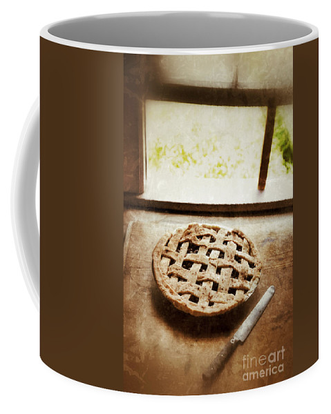 Pie Coffee Mug featuring the photograph Home Made Pie Cooling By Open Window by Jill Battaglia