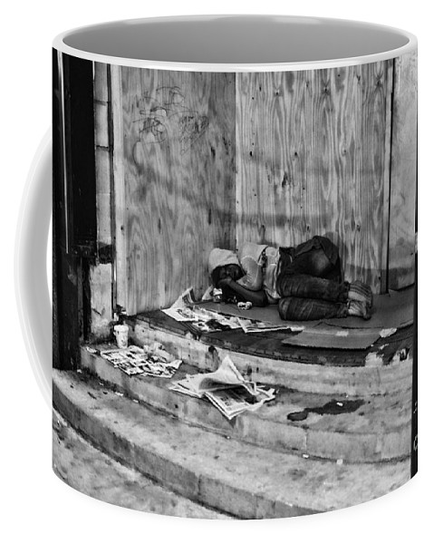 Homeless Coffee Mug featuring the photograph Homeless by Paul Ward