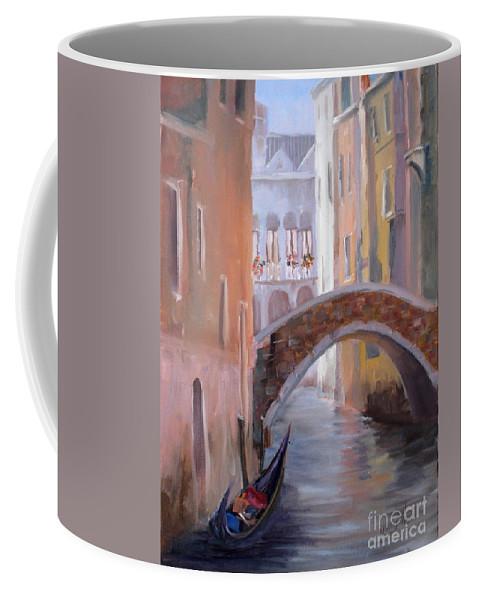Venice Coffee Mug featuring the painting Honeymoon Heven by Mohamed Hirji