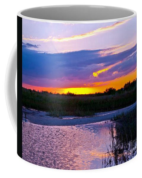 Sunset Coffee Mug featuring the photograph Honeymoon Island Sunset by Stephen Whalen