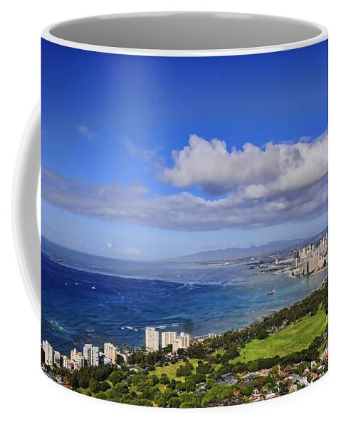 Oahu Coffee Mug featuring the photograph Honolulu From Diamond Head by Gary Beeler