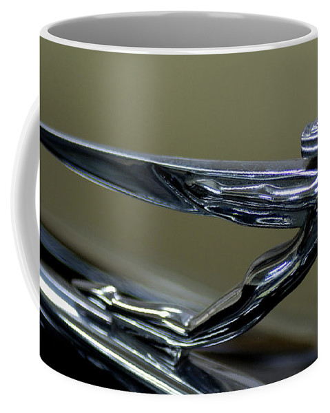 Hood Ornament Coffee Mug featuring the photograph Hood Ornament by Ronald Grogan