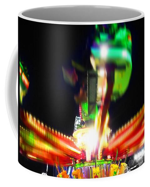 Fairground Ride At Night Coffee Mug featuring the digital art Hoppity Hop Hop Hop by Charles Stuart