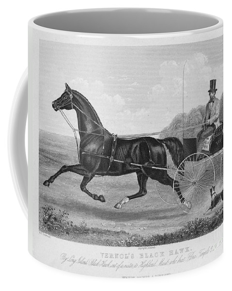 1850 Coffee Mug featuring the photograph Horse Racing, C1850 by Granger