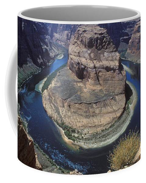 Sandra Bronstein Coffee Mug featuring the photograph Horseshoe Bend View by Sandra Bronstein