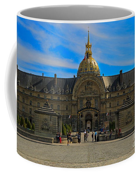 Paris Coffee Mug featuring the photograph Hotel Des Invalides by Louise Heusinkveld