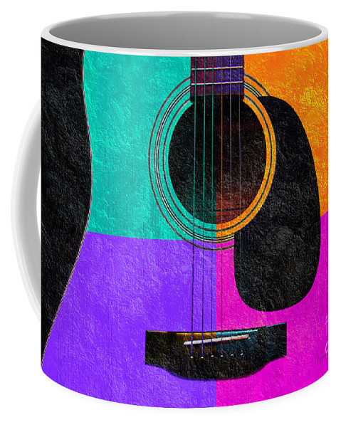Guitar Body Coffee Mug featuring the photograph Hour Glass Guitar 4 Colors 2 by Andee Design