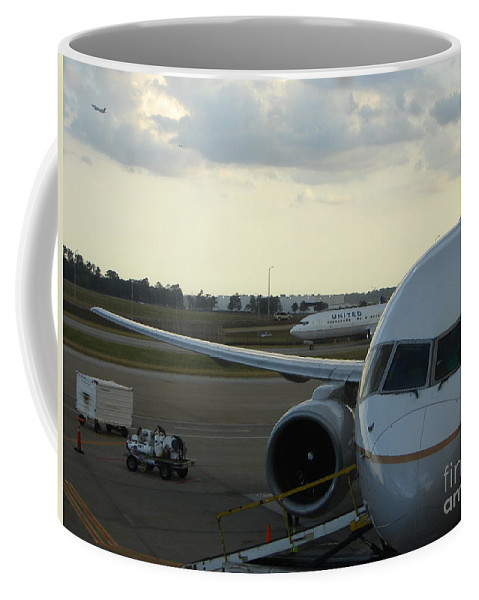 Airplane Coffee Mug featuring the photograph Houston by Priscilla Richardson