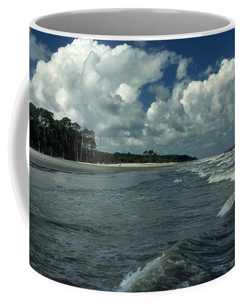 Surf Coffee Mug featuring the photograph Hunting Island Surf by Skip Willits