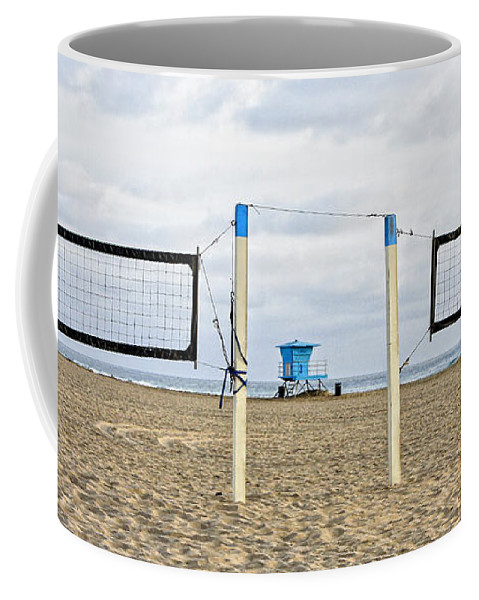 Volleyball Coffee Mug featuring the photograph Huntington Beach Volley Ball by Rosanne Nitti