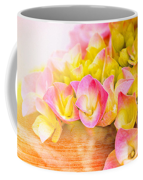 Flowers Coffee Mug featuring the photograph Hydrangeas In Bloom by Elaine Manley
