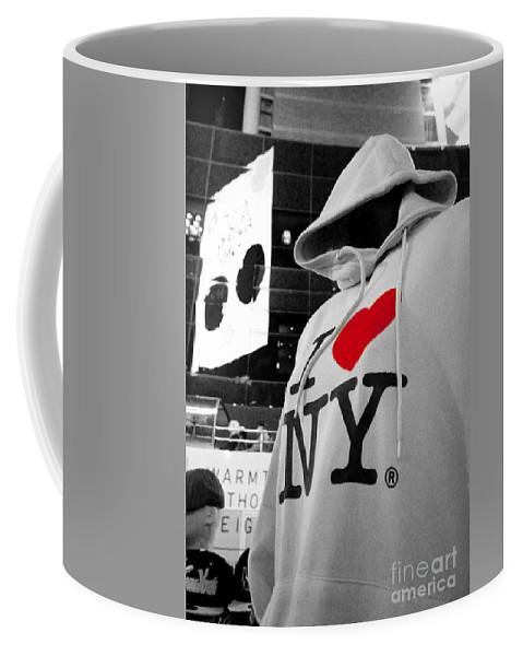 Hoodie Top On Sale N Times Square Coffee Mug featuring the photograph I Love New Yoik by Rob Hawkins