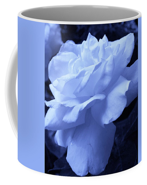 Flora Coffee Mug featuring the photograph Ice Blue Rose by Bruce Bley