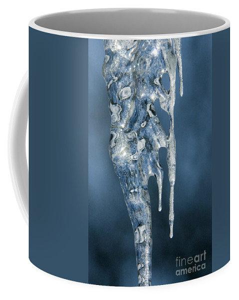 Bronstein Coffee Mug featuring the photograph Icicle Formation by Sandra Bronstein