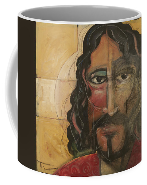 Icon Coffee Mug featuring the painting icon no 4 revision A by Tim Nyberg