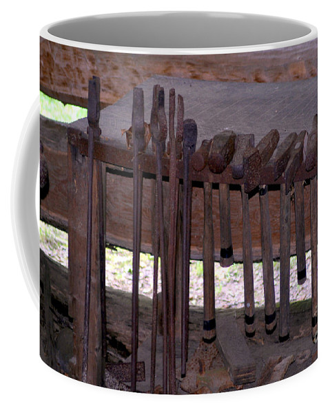 Aged Coffee Mug featuring the photograph If I Had A Hammer by Alan Look