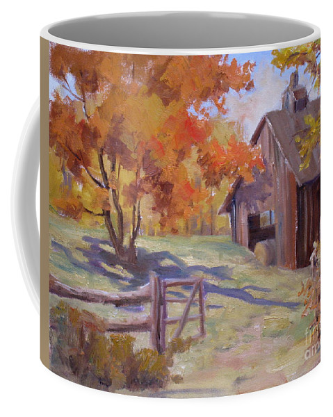 Fence Coffee Mug featuring the painting Immaculate by Mohamed Hirji