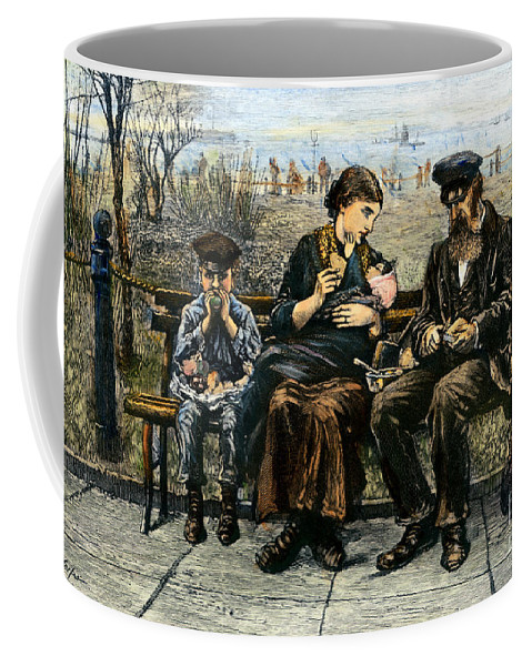 1884 Coffee Mug featuring the photograph Immigrants: Castle Garden by Granger