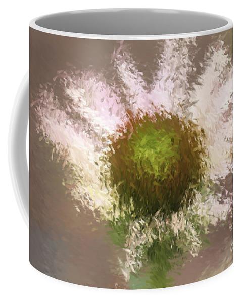 Flower Coffee Mug featuring the digital art Impressionistic Echinacea by Deborah Benoit