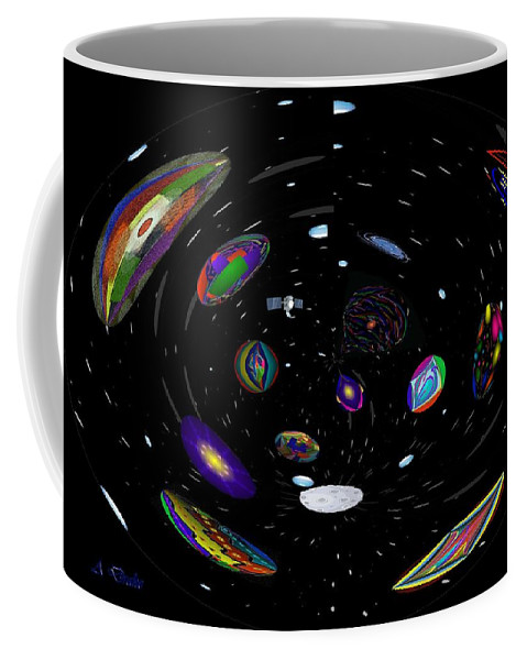Space Coffee Mug featuring the digital art In My Telescope by Alec Drake