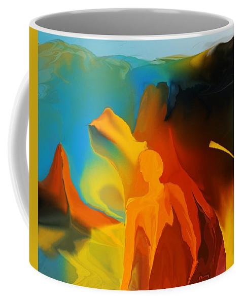 Fine Art Coffee Mug featuring the digital art In The Begining by David Lane