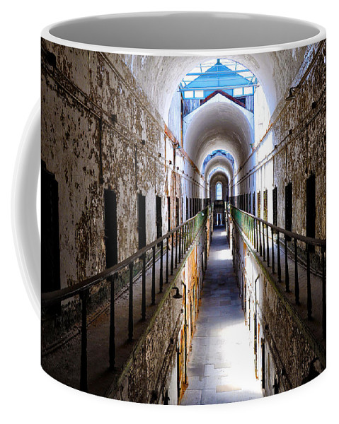 In The Slammer Coffee Mug featuring the photograph In The Slammer by Bill Cannon
