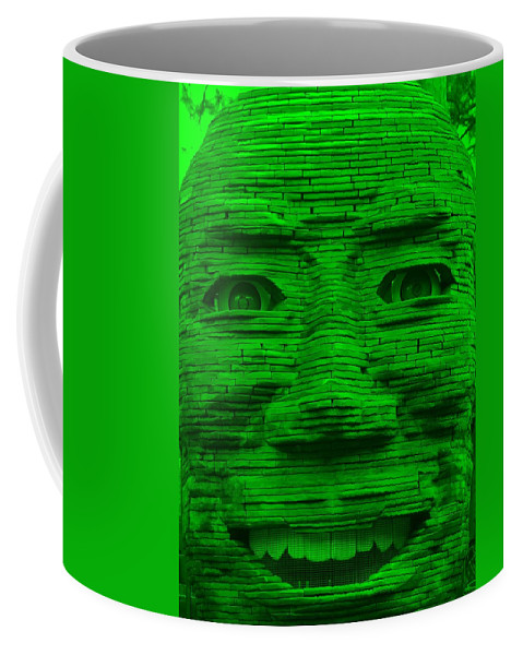 Architecture Coffee Mug featuring the photograph In Your Face In Green by Rob Hans