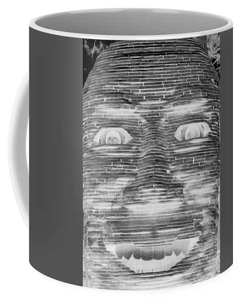 Architecture Coffee Mug featuring the photograph In Your Face In Neagtive by Rob Hans