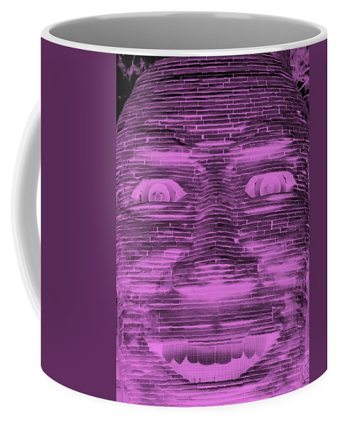 Architecture Coffee Mug featuring the photograph In Your Face In Negative Light Pink by Rob Hans