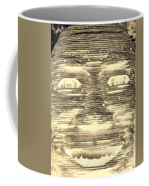 Architecture Coffee Mug featuring the photograph In Your Face In Negative Sepia by Rob Hans