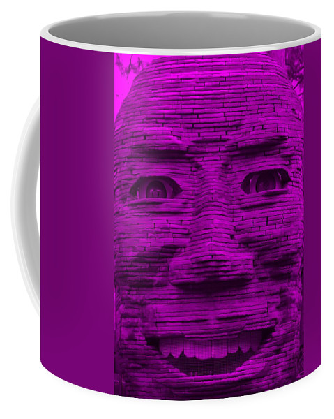 Architecture Coffee Mug featuring the photograph In Your Face In Purple by Rob Hans