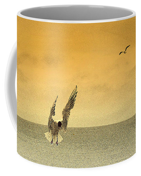 Swanage Coffee Mug featuring the photograph Incoming by Linsey Williams
