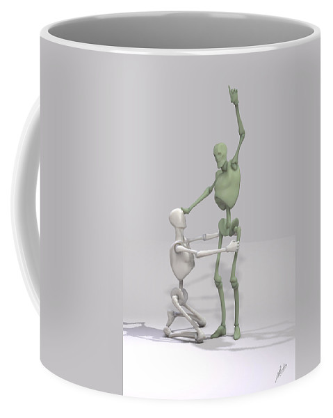 Piety Coffee Mug featuring the digital art Indoctrinated Mechanical by Joaquin Abella
