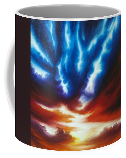 Color Coffee Mug featuring the painting Infinity II by James Christopher Hill