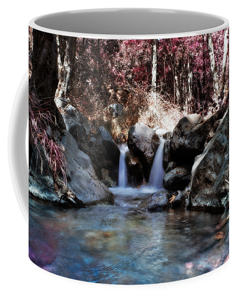 Angle Coffee Mug featuring the photograph Infrared Waterfall by Stelios Kleanthous