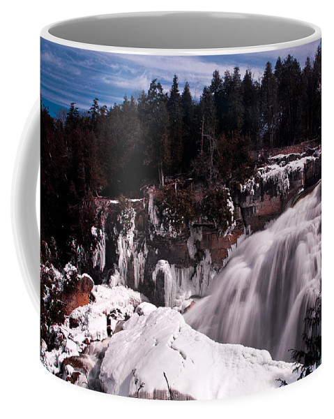 Water Coffee Mug featuring the photograph Inglis Falls by Cale Best