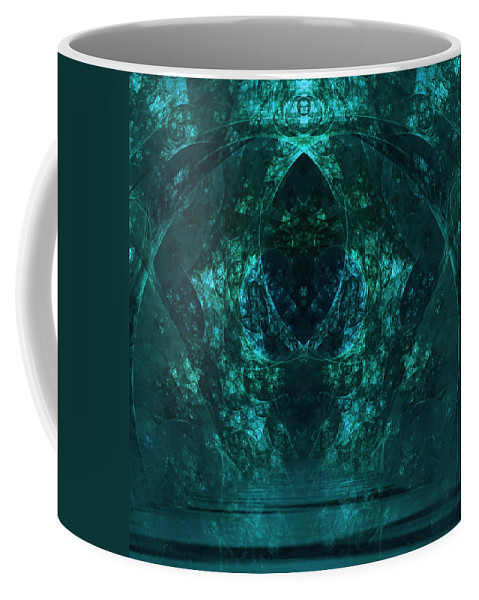 Green Coffee Mug featuring the digital art Inner Sanctum by Georgiana Romanovna
