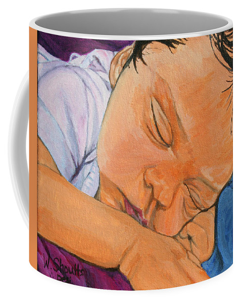 Baby Coffee Mug featuring the painting Innocence by Wendy Shoults