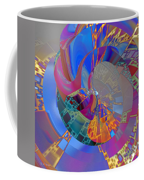 Abstract Coffee Mug featuring the digital art Into The Inner World by Deborah Benoit