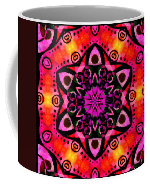 Summer Coffee Mug featuring the mixed media Introspection 2 by Angelina Vick