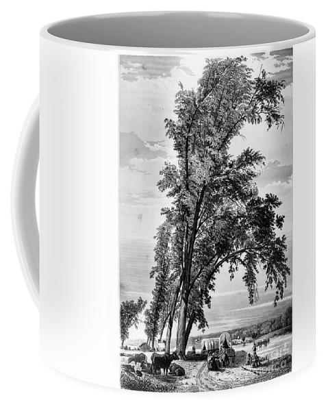 1855 Coffee Mug featuring the photograph Iowa: Council Bluffs, 1855 by Granger