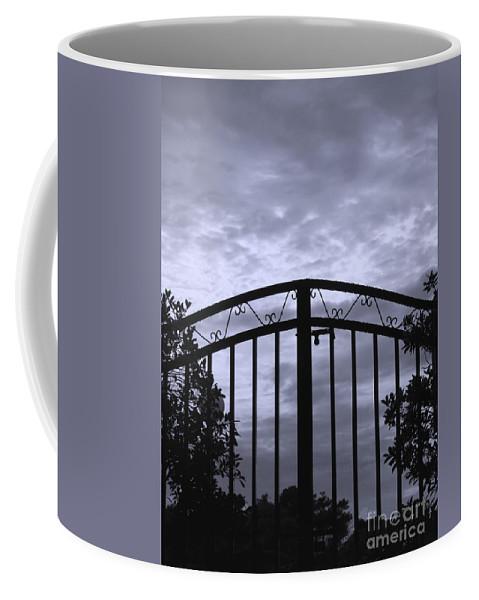 Sky Coffee Mug featuring the photograph Iron Gate by Yali Shi
