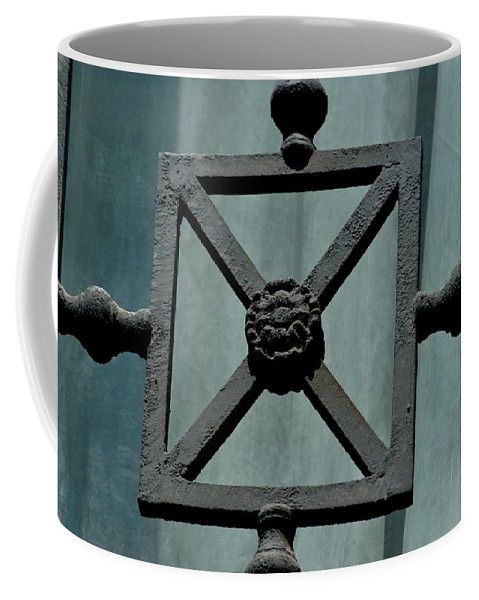 Bars Coffee Mug featuring the photograph Iron Work by Joseph Yarbrough