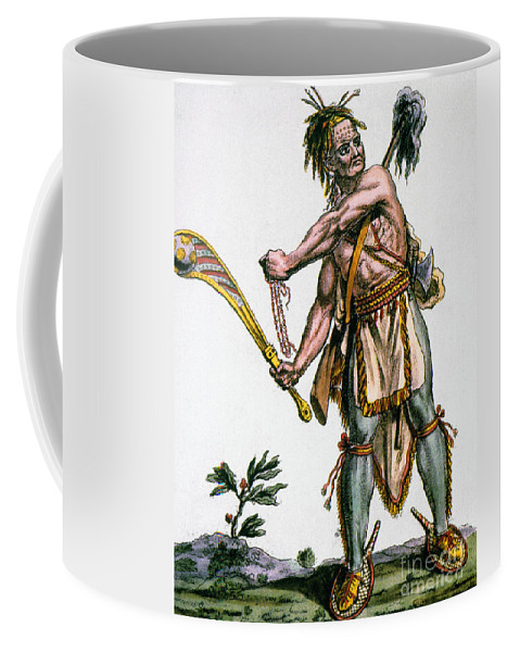 1787 Coffee Mug featuring the photograph Iroquois Warrior by Granger
