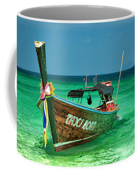 Asia Coffee Mug featuring the photograph Island Taxi by Adrian Evans