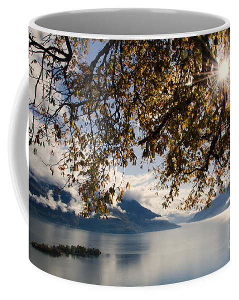 Islands Coffee Mug featuring the photograph Islands On A Lake In Autumn by Mats Silvan