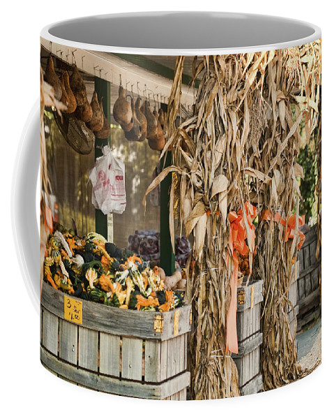 Isoms Orchard Coffee Mug featuring the photograph Isoms Orchard In Fall Regalia by Kathy Clark