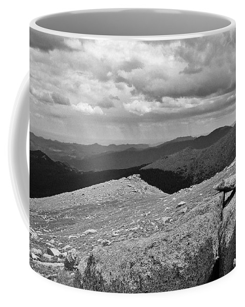 Coffee Mug featuring the photograph It's Raining In The Distance by David Pantuso