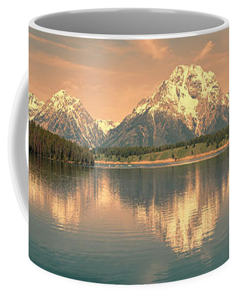 Grand Teton Coffee Mug featuring the photograph Jackson Lake Reflection by Sandra Bronstein