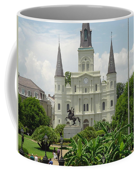 Jackson Square Coffee Mug featuring the photograph Jackson Square by Michael MacGregor